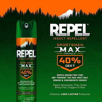 Best Fly Killer: REPEL HG-63801 Sportsmen Max Formula Insect Aerosol, 6.5-Ounce